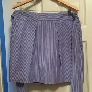 Jcrew blue striped skirt